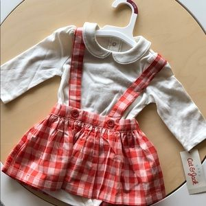 Baby cat & jack collar plaid fall winter jumpsuit